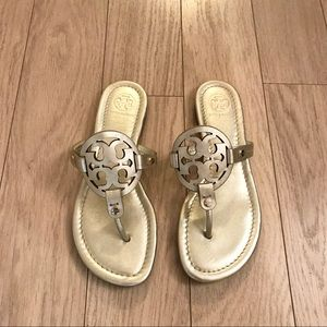 Gold Tory Burch Sandals - Size 6